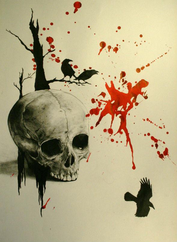 Motifs pour tatouages des dessins r alis s par m lanie paris - Symbole tete de mort ...